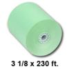3-1/8 inch x 230 ft Green Thermal Receipt Paper, 50 Rolls