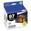 Original Epson T097120D2 Black T097120 Ink Cartridge 2 Pack
