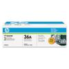 Genuine HP 36A CB436D Black CB436A Toner Cartridge 2 Pack