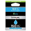 Original Lexmark 150XL 14N1615 High Yield Cyan Return Program Ink Cartridge