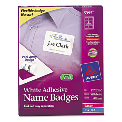 avery 5395 2 1 3quot x 3 3 8quot self adhesive name badge labels With avery 5395 labels