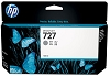 Genuine HP 727 B3P24A Gray Ink Cartridge 130ml