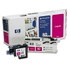 Genuine HP 80 C4822A Magenta Ink Printhead and Cleaner Value Pack