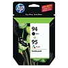 Genuine HP 94 HP 95 C9354FN Black / Color Ink Cartridge Combo Pack