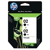 Genuine HP 02 C9500FN Black C8721WN Ink Cartridge 2 Pack