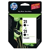 Genuine HP 21 C9508FN Black C9351AN Ink Cartridge 2 Pack