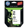 Genuine HP 21 HP 22 C9509FN Black / Color Ink Cartridge Combo Pack