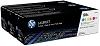 Genuine HP 128A CF371AM Color Toner 3-Pack