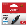 Original Canon CLI-251XLC High Capacity Cyan Ink Cartridge
