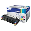 Original Samsung CLT-P409C Black and Color Toner 4 Pack