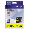 Brother LC103Y High Yield Yellow Ink Cartridge