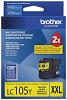 Brother LC105Y Super High Yield Yellow Ink Cartridge