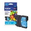 Original Brother LC61C Cyan Ink Cartridge