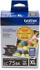 Original Brother LC75BK High Capacity Black Ink Cartridge 2 Pack