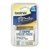 Brother M231 1/2 in. Non-Laminated Black on White Tape 2 Pack