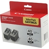 Original Canon PG-40 Black Ink Cartridge 2 Pack