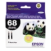 Original Epson T068120-D2 Black Ink Cartridge 2 Pack
