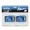 Brother TC22 1/2 in. Laminated Blue on White Tape 2 Pack