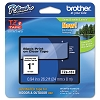 Brother TZE151 1 in. Laminated Black on Clear Tape
