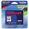 Brother TZE421 3/8 inch Laminated Black on Red Tape