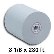3-1/8 inch x 230 ft Blue Thermal Paper Rolls, 50 Rolls