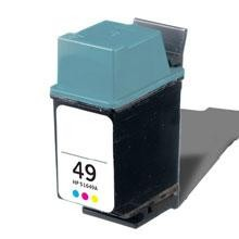 Remanufactured HP 49 51649A Color Ink Cartridge