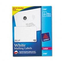 Avery 5168 White Laser Shipping Labels, 3-1/2'' x 5''