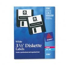 Avery 5196 Laser Labels for 3 1/2'' Diskettes