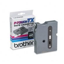 Brother TX2111 1/4 in. Laminated Black on White Tape