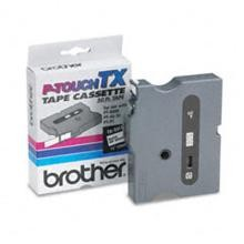 Brother TX2311 1/2 in. Laminated Black on White Tape
