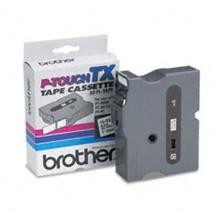Brother TX2511 1 in. Laminated Black on White Tape