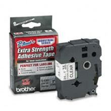 Brother TZES151 1 in. Extra Strength Super Adhesive Black on Clear Industrial Tape