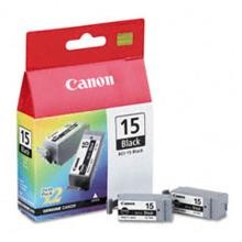 Original Canon BCI-15BK Black Ink Cartridge 2 Pack