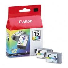 Original Canon BCI-15CL Color Ink Cartridge 2 Pack