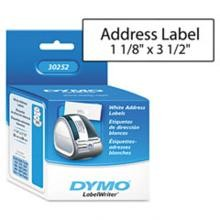 Dymo 30252 Self-Stick High-Capacity Address Labels, 3-1/2 x 1-1/8 White