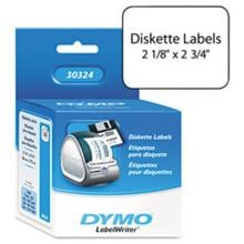 Dymo 30324 Diskette Labels, 2-3/4 x 2-1/8 White