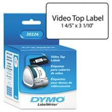 Dymo 30326 VHS Labels for Top of Video Cassette, 1-4/5 x 3-1/10 White