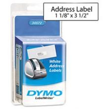 Dymo 30572 Self-Stick Address/High-Capacity Labels, 3-1/2 x 1-1/8 White 2/Rolls