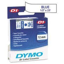 Dymo 45014 D1 Tape Cartridge, 1/2in x 23ft, Blue on White