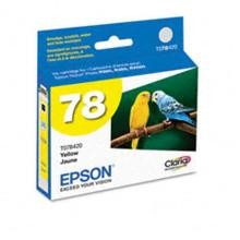 Original Epson T078420 Yellow Ink Cartridge