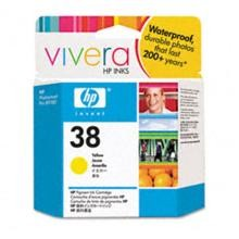 Genuine HP 38 C9417A Yellow Ink Cartridge
