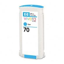 Genuine HP 70 C9452A Cyan Ink Cartridge