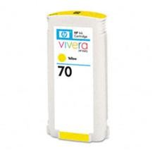 Genuine HP 70 C9454A Yellow Ink Cartridge