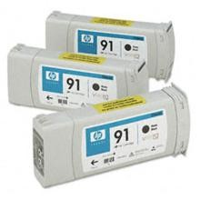 Genuine HP 91 C9480A Matte Black C9464A Ink Cartridge 3 Pack