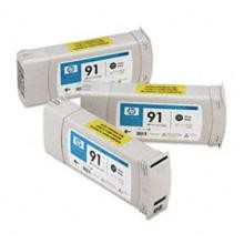 Genuine HP 91 C9481A Photo Black C9465A Ink Cartridge 3 Pack