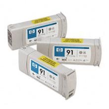 Genuine HP 91 C9482A Light Gray C9466A Ink Cartridge 3 Pack