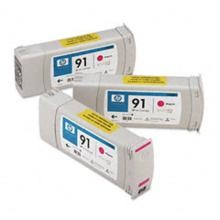 Genuine HP 91 C9484A Magenta C9468A Ink Cartridge 3 Pack