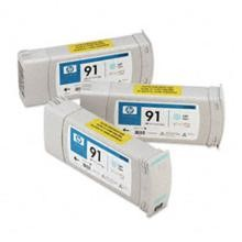 Genuine HP 91 C9486A Light Cyan C9470A Ink Cartridge 3 Pack