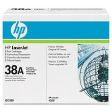 Genuine HP 38A Q1338D Black Q1338A Toner Cartridge 2 Pack
