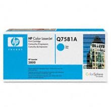 Genuine HP Q7581A Cyan Toner Cartridge